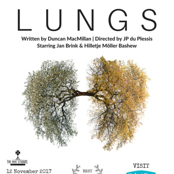"""Don't miss """"Lungs"""", a South African theatre production in Hong Kong – 15% ticket discount for SAAHK members."""