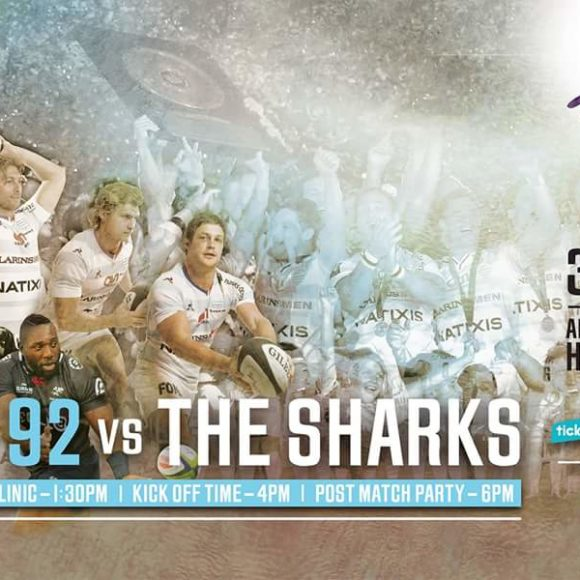 Cell C Sharks to take on Racing 92 in Hong Kong