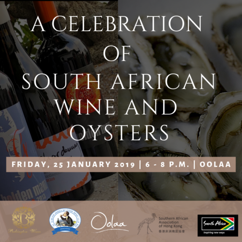 Join us for a celebration of South African wine and oysters on 25 January 2019.