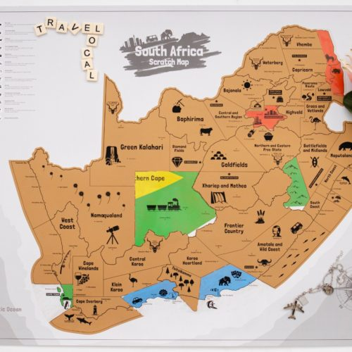 South Africa Scratch Map – Discover South Africa and Support the Kolisi Foundation