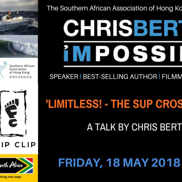 SA adventurer and Guinness World Record holder Chris Bertish in Hong Kong – 18 May 2018