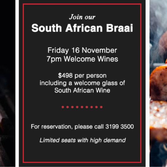 South African Wine Braai – 16 November 2018